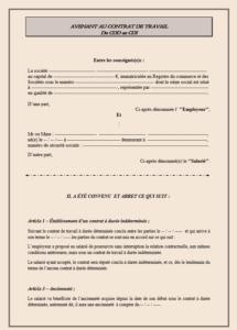 Avenant Au Contrat De Travail Cdd Au Cdi 2021 Modele De Contrat
