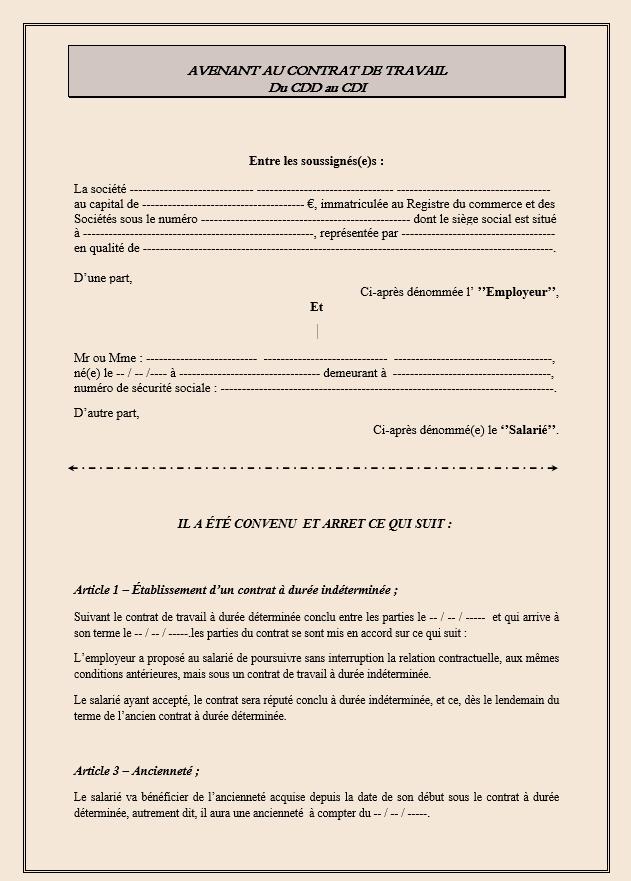 Modèles de contrat en format Word Gratuit - Modèle de Contrat