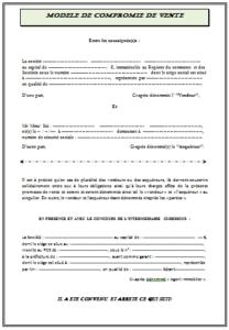 Promesse De Vente Et Compromis De Vente 2021 Modele De Contrat