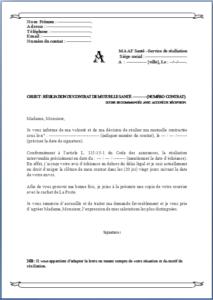 Lettre Resiliation Pour Maaf Modele Modele De Contrat