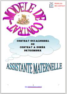 contrat de travail assistante maternelle image