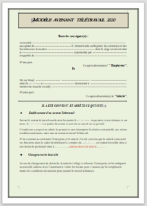Model de contractació de treballs Adendant Teletravel 2020